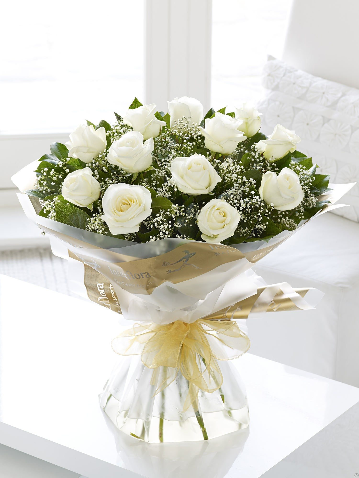 Heavenly white rose send fresh flowers online flower delivery in home flowers hand tied bouquet izmirmasajfo