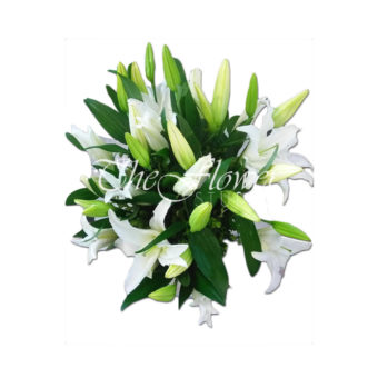 bouquet full of lilies