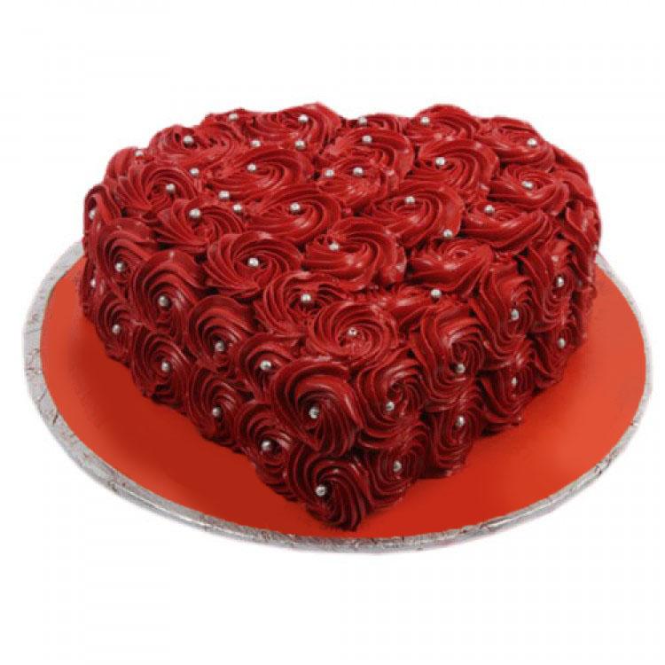heart shaped rosette cake send premium cakes in pakistan. Black Bedroom Furniture Sets. Home Design Ideas